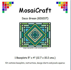 MosaiCraft-Pixel-Craft-Mosaic-Art-Kit-039-Deco-Green-039-Pixelhobby