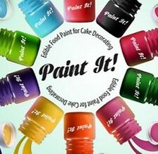 Rainbow Dust 'Paint it!' Pots Edible Food Paint 25ml Cake Decoration Set of 10!
