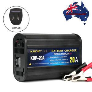 Car-Smart-Battery-Charger-12V-24V-20A-Digital-Display-Boat-Truck-Motorcycle-AU
