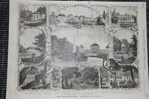 Schloss-Nymphenburg-verschiedene-Ansichten-Palmenhaus-HOLZSTICH-von-1884