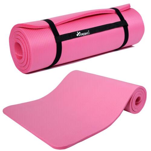 Tappetino per yoga pilates tappeto ginnastica fitness 185x60x1,5 cm Rosa