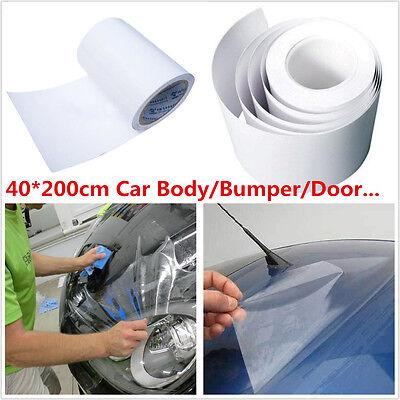 Car Body Paint Protection Anti-Scratch Anti-Static Clear Film Vinyl Sheet 40*200