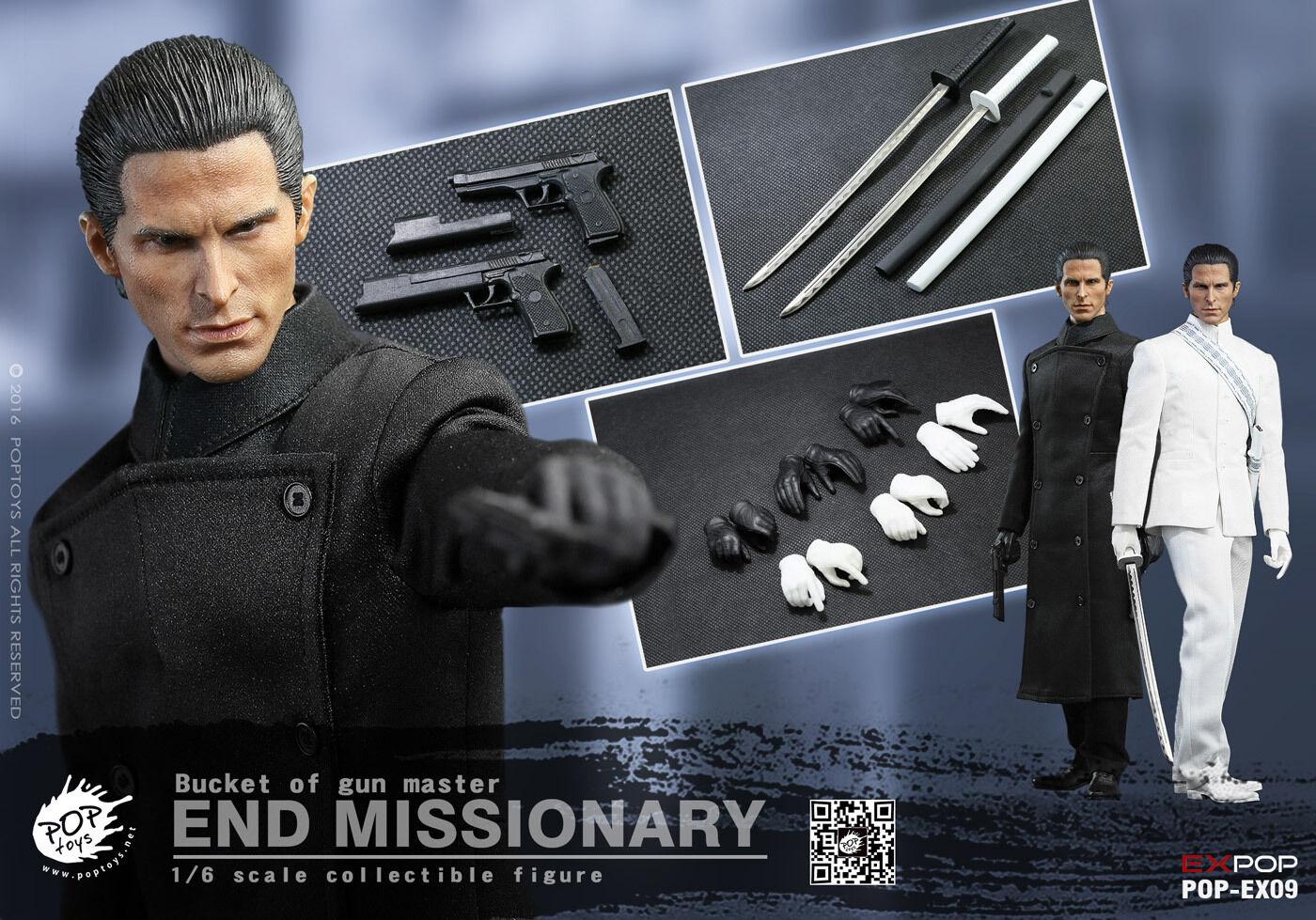 POPTOYS 1 6 fin missionnaire seau de GUN MASTER Christian Bale Figure Model Toy