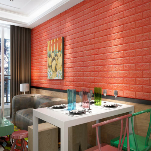 3D PE Ziegel Wasserfest Wandaufkleber Selbstklebend Panel Aufkleber DIY 60x30cm