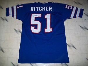 premium selection 28944 9b08b Details about VINTAGE GAME USED WORN BUFFALO BILLS FOOTBALL JERSEY JIM  RITCHER SAND-KNIT RARE