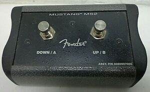 Genuine-Fender-MS2-2-Button-Programmable-Footswitch-Mustang-Series-III-IV-V-Amps