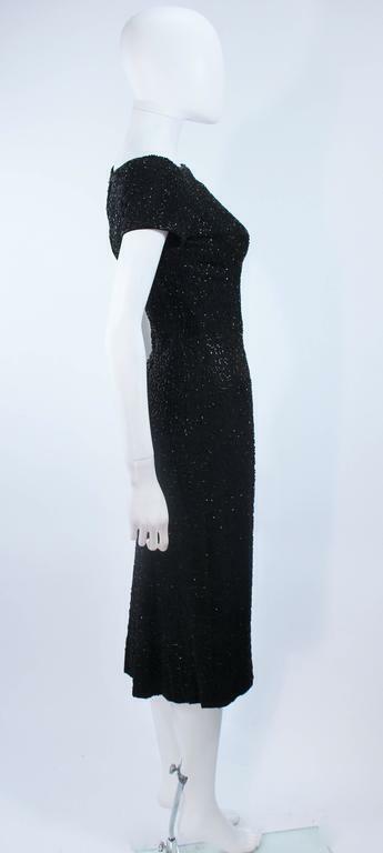 CEIL CHAPMAN Black Beaded Cocktail Dress Size 2 - image 6