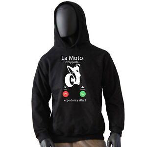 sweat à capuche moto