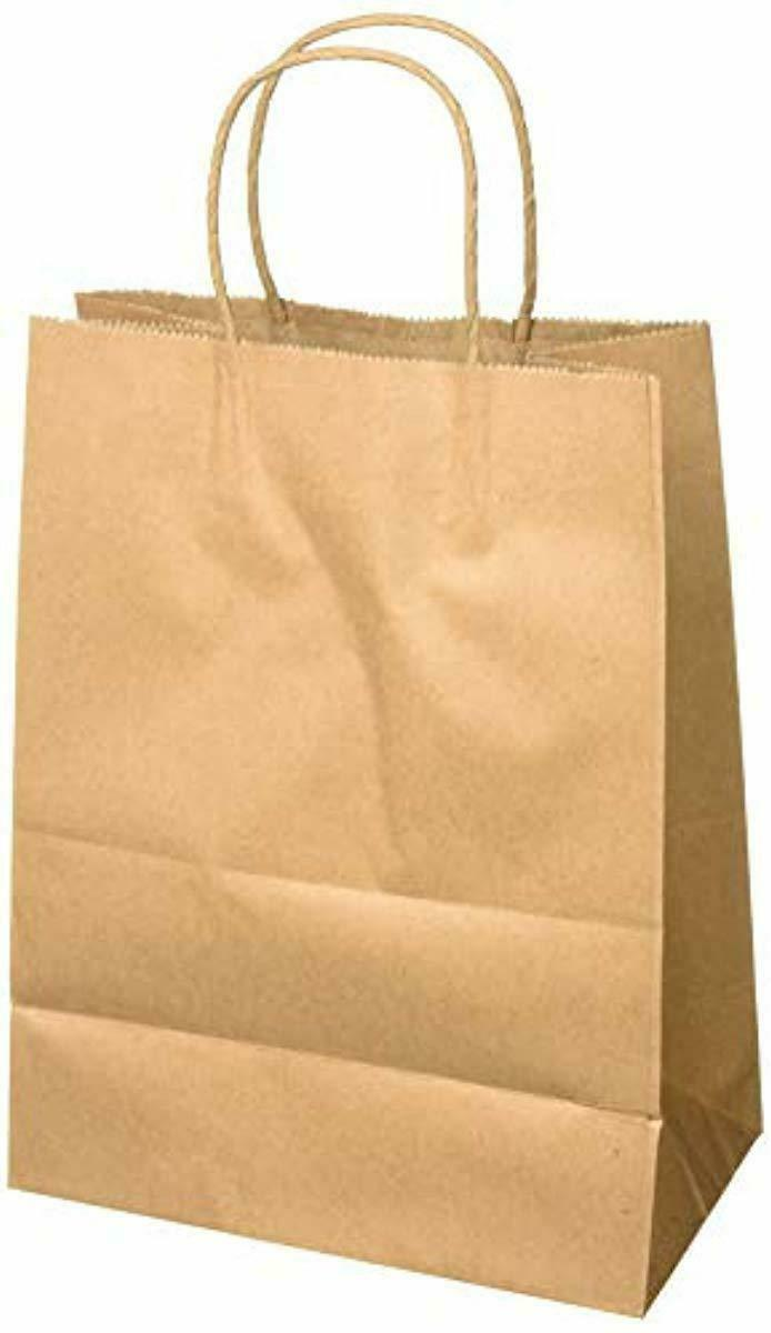 Merchandise Bags Shopping Bags Paper Bags 13x7x17 50Pcs BagDream Gift Bags Recycled Brown Kraft Paper Bags with Handles Bulk Retail Bags Party Bags
