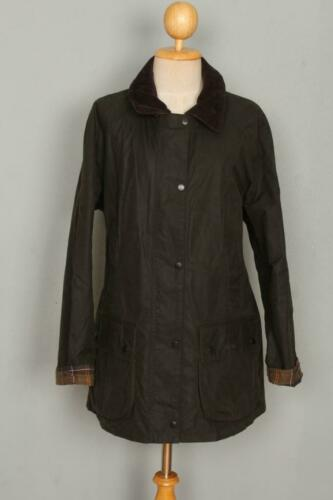 Womens BARBOUR Beadnell Waxed Jacket Olive Size US