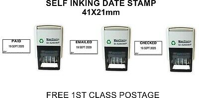 Printtoo Office Stationery Self Inking Dater Stamp with Paid Text Date Rubber Stamp-Blue