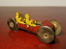 Antique Vintage Tin Litho Toy Race Car