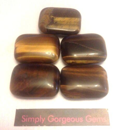 5 Stunning Rectangle Shaped Tiger Eye Gemstone Beads 18 25 mm