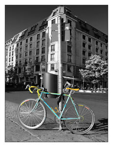 Details About Berlin Street View With Bianchi Bike 12x16 Fine Art Print Cycling Cityscape