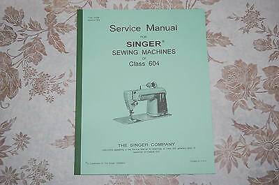 Series 591C and 591D Instructions Manual for Singer Sewing Machine Class 591