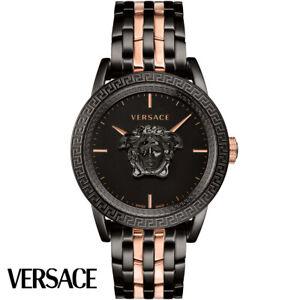 Versace-VERD00618-Palazzo-Empire-rosegold-schwarz-Edelstahl-Herren-UHR-NEU