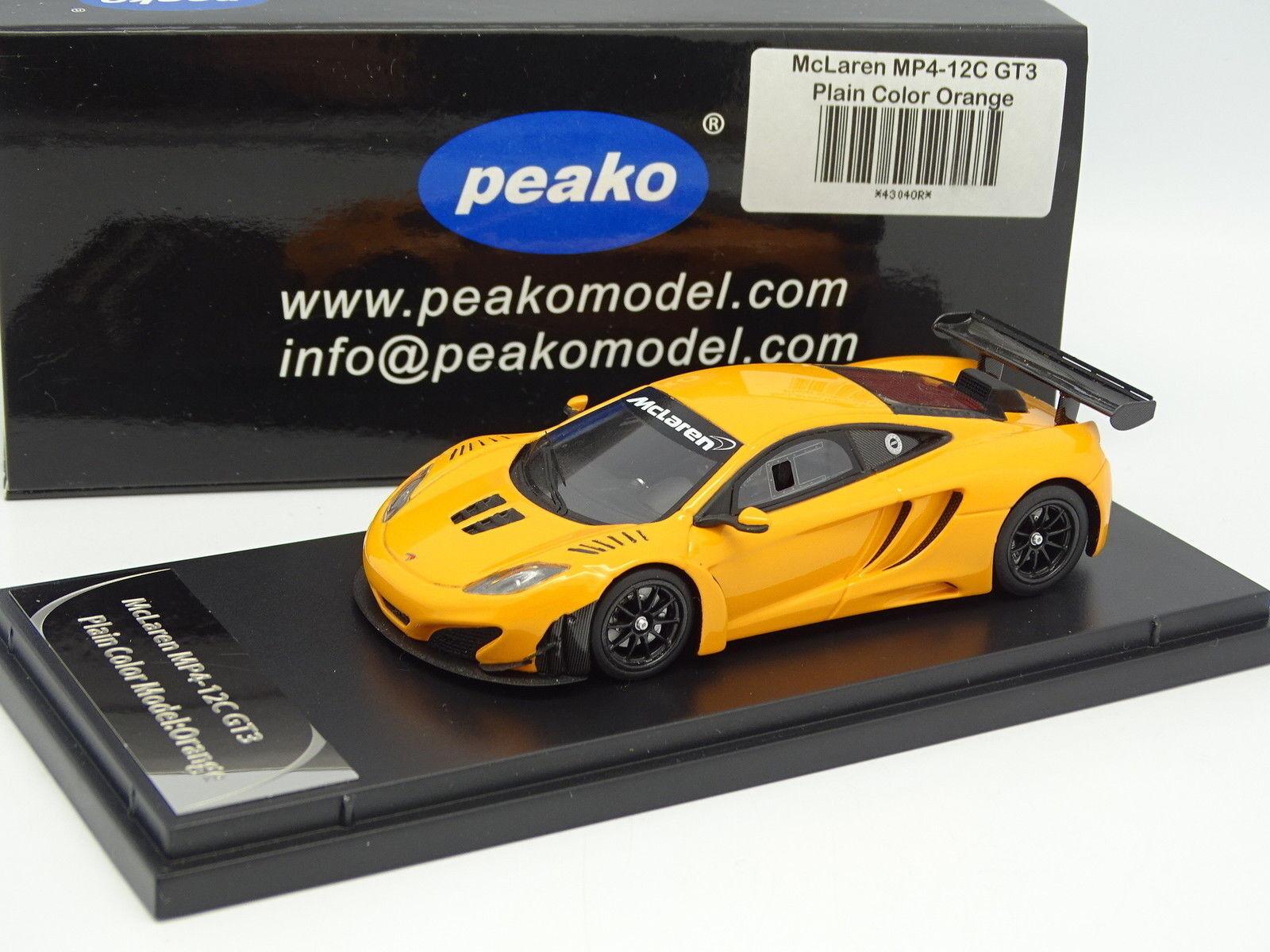 Peako resin 1 43 - mclaren mp4-12c gt3 plain color model orange