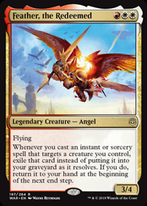 the Redeemed MRM ENGLISH Feather Plume l/'affranchie MTG magic WAR