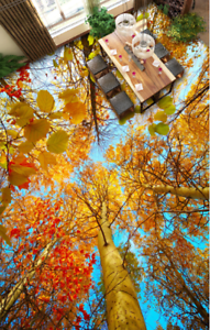 3D golden Trees Sky 6 Floor WallPaper Murals Wall Print 5D AJ WALLPAPER UK Lemon