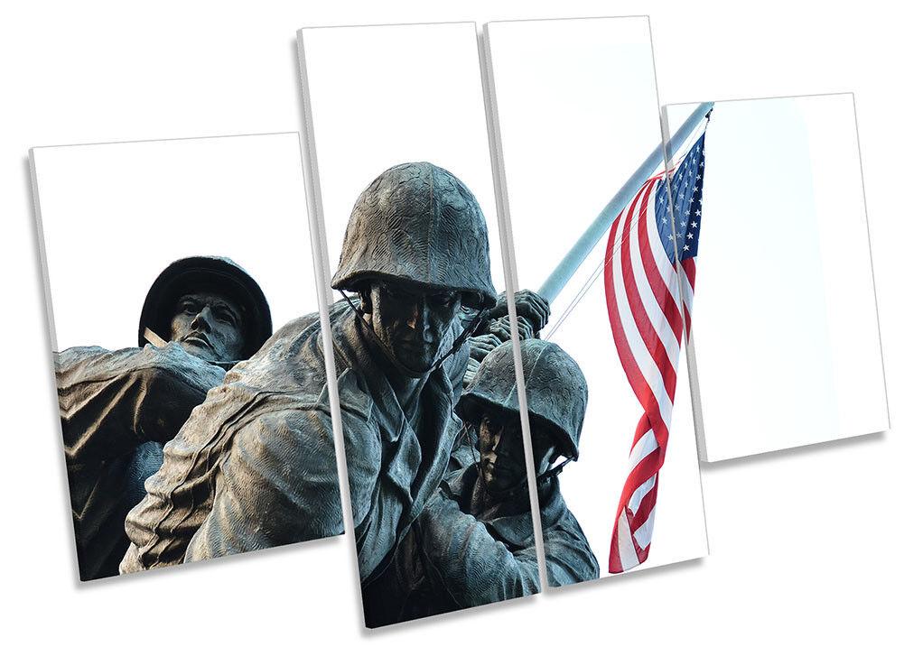 Stati Uniti Memoriale Militare art. a muro FOTO GRUPPO di quattro