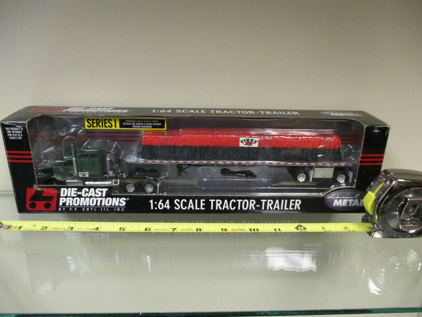 Fikes International Semi w  Tarped Load Trailer by DCP 1 64th Scale