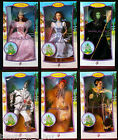 Wizard of Oz Barbie Doll Dorothy Wicked Witch Glinda Lion Pink Label Lot 6 VG