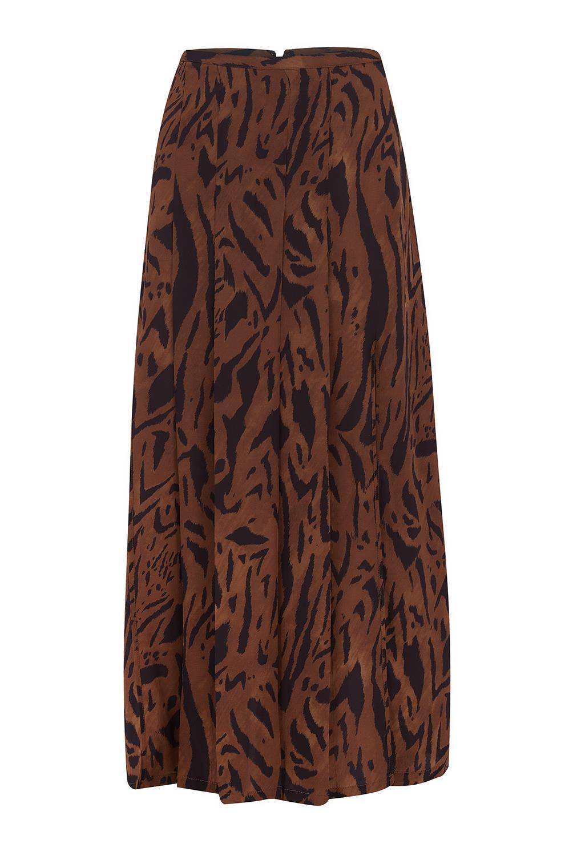 Rixo London Georgia braun Tiger Skirt Größe M