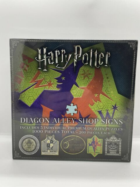 5x Diagon Alley 200pc Jigsaw Puzzles By Noble Collection
