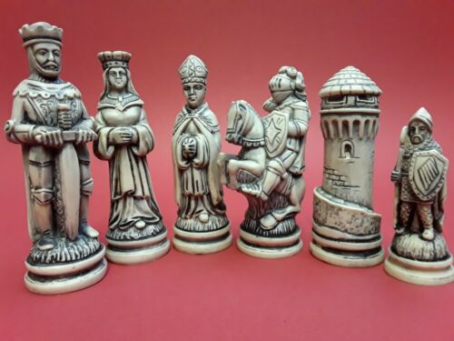 8.3cm LEWIS KING DIY CHESS SET MOULDS. ARTCRAFTS MOULDS