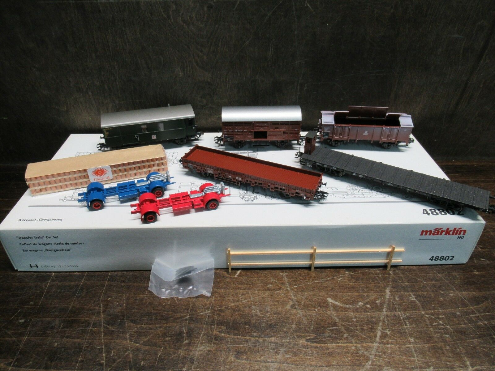 MARKLIN 48802 HO SCALE 'TRANSFER TRAIN' CAR SET PRE-OWNED FREE SHIPPING