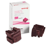 Genuine Xerox Colorqube 8570 Magenta Solid Ink Sticks (108r00927), 2/pack