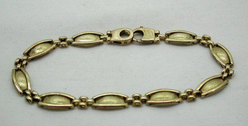 Molto Molto Molto bello in oro 9 carati Fancy Bracciale collegamento ec9e37
