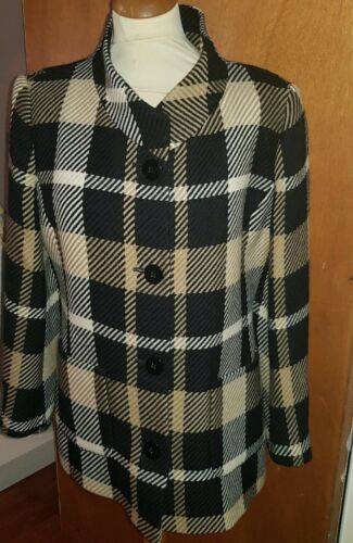 Check Windsmoor Uk Jacket Coat 10 Fabulous Up Wool Button Size Women's pwqwtS1