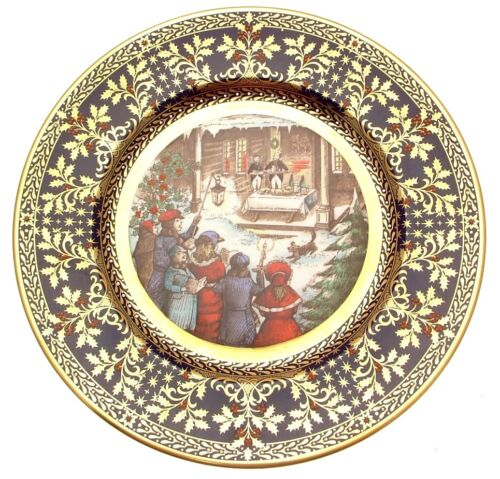 Caverswall Christmas Carol Plate The Wassail Song Christmas 1981 CP2209