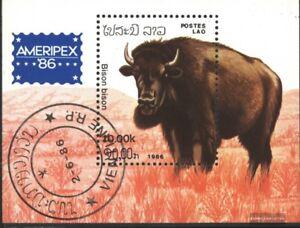 Laos-Block111-kompl-Ausg-gestempelt-1986-Tiere