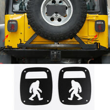 Tail Rear Light Guards Cover Lamps Trim Covers Pair For 97 06 Jeep Wrangler Tj Fits Jeep