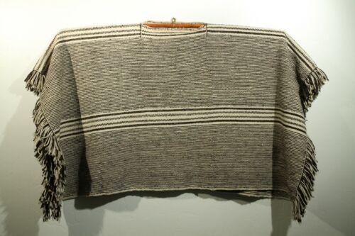 Vintage Mexican 100% Wool Poncho/Serape  Unisex Ou
