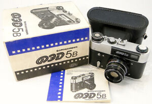 NEU-1993-fed-5b-5-Russische-UdSSR-Entfernungsmesser-35mm-Kamera-Industar-61-L-D-Objektiv