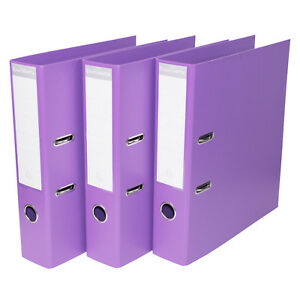 Image is loading 3-x-Purple-A4-Lever-Arch-Files-70mm-  sc 1 st  eBay & 3 x Purple A4 Lever Arch Files 70mm Storage File Paper Office Legal ...