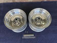 Pair 2 Polished 15x10 Real Centerline Wheels 5on5 Chevy C10 Truck G10 Van