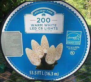 200-CT-DIAMOND-CUT-WARM-WHITE-LED-C6-STRING-LIGHTS-53-5-FT-ON-REEL-NEW-LQQK