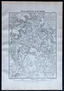 1866 - Mapa Del Campo De Batalla de La Vingeanne