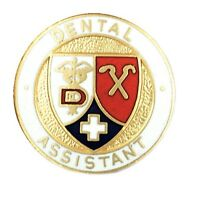Dental Assistant Lapel Pin With Safety Catch Caduceus Cross Graduation Pins