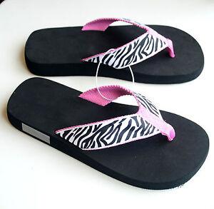 b35985a60 Image is loading Women-039-s-Sandals-Summer-Flip-Flops-Zebra-
