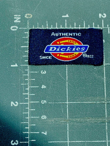 Dickies Horseshoe Logo Patch Tag Work Clothing Authentic Since 1922 Navy Blue