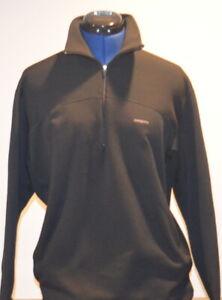 PATAGONIA-Men-039-s-Capilene-Quarter-Zip-Pullover-Fleece-Sweater-Black-Medium