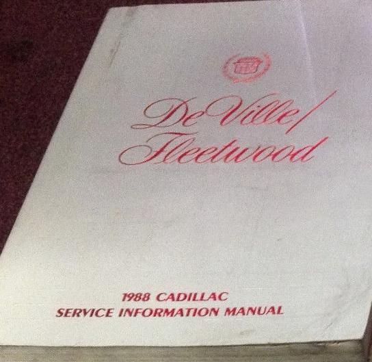 1988 Gm Cadillac Deville Fleetwood Service Shop Repair