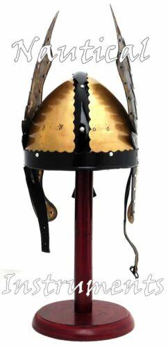CASCO CENTURIONE medievali Armatura Casco ROMANO CAVALIERE Bird CASCO CON SUPPORTO Regalo