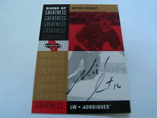 2001-02 Upper Deck Signs of Greatness Michel Goulet Autograph / Signed Card B23