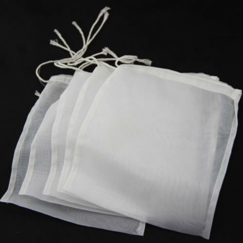 5 X 100//160//200 Mikron Nylon Straining Tasche 15x20cm Mesh Homebrew Filterbeutel